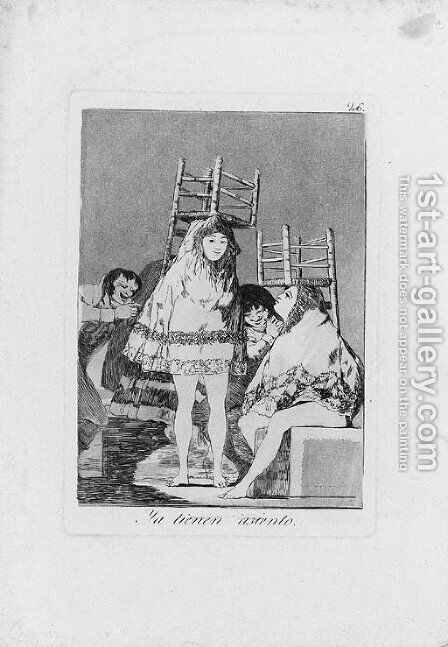 Ya tienen Asiento, Plate 26 from Los Caprichos by Goya - Reproduction Oil Painting