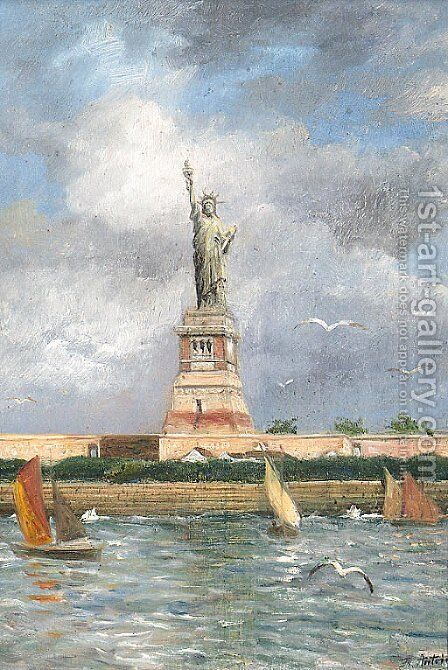 The Statue Of Liberty by Franz Antoine - Reproduction Oil Painting