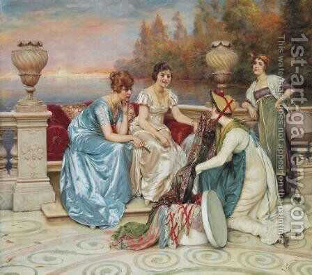 Choosing the Finest by Charles Joseph Frederick Soulacroix - Reproduction Oil Painting