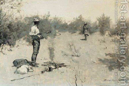Hello, Jose (Unexpected Guest) by Frederic Remington - Reproduction Oil Painting