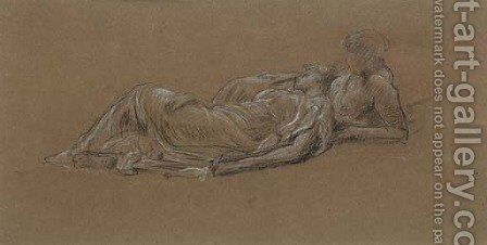Study for the two nymphs in Idyll by Lord Frederick Leighton - Reproduction Oil Painting