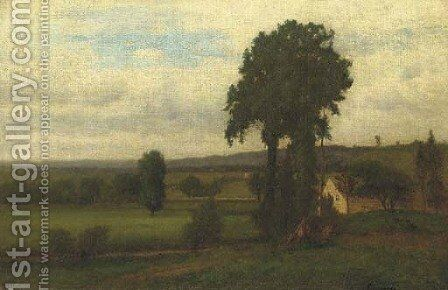 Durham Valley by George Inness - Reproduction Oil Painting