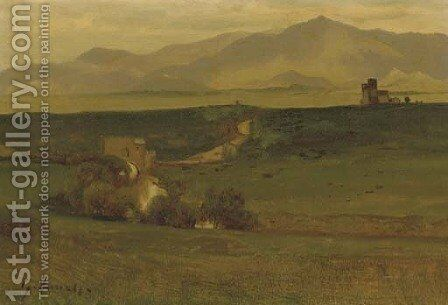 Roman Campagna by George Inness - Reproduction Oil Painting