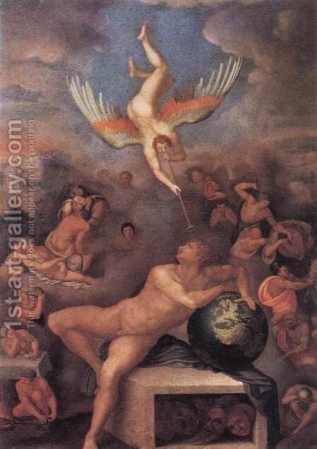 Allegory of Human Life 1570 by Alessandro Allori - Reproduction Oil Painting