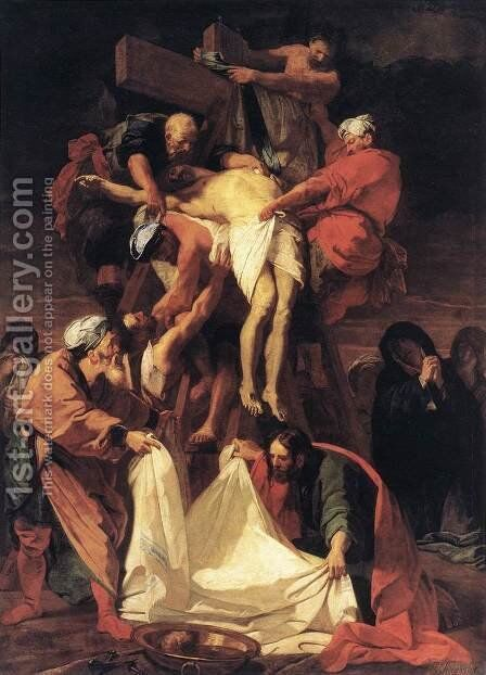 Descent Of Christ To Limbo by Andrea Bonaiuti da Da Firenze - Reproduction Oil Painting