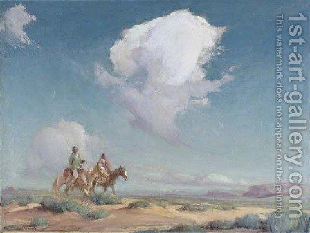 Navajo Travelers by Ira Diamond Gerald Cassidy - Reproduction Oil Painting