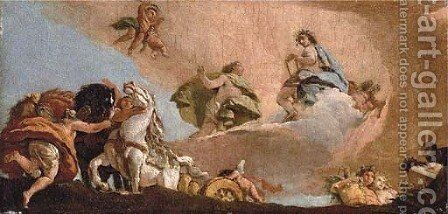 Phaeton asking to drive the chariot of Apollo by Giovanni Battista Tiepolo - Reproduction Oil Painting