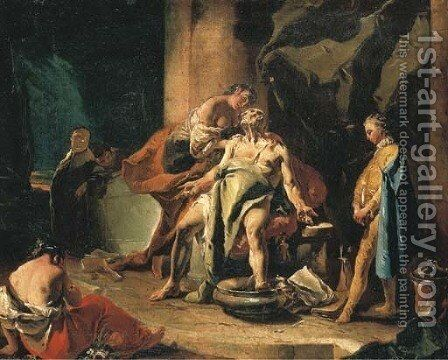 The Death of Seneca by Giovanni Battista Tiepolo - Reproduction Oil Painting
