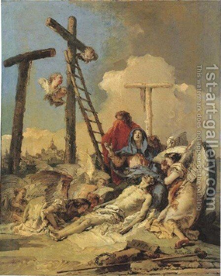 The Lamentation by Giovanni Battista Tiepolo - Reproduction Oil Painting