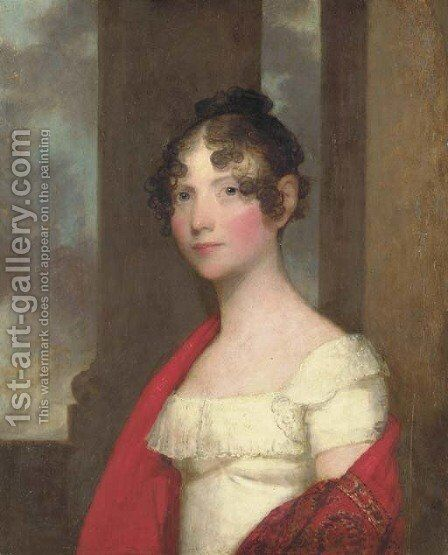 Portrait of Mrs. James Smith Colburn (Sarah Dunn Prince) by Gilbert Stuart - Reproduction Oil Painting