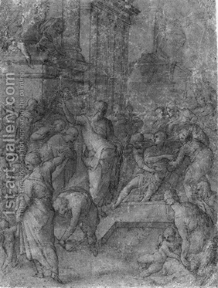 The Raising of Lazarus by Giovanni Balducci - Reproduction Oil Painting