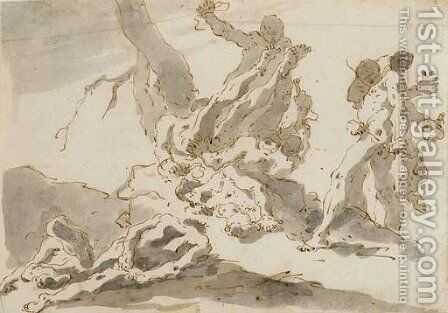 Le serpent d'Airain by Giovanni Battista Tiepolo - Reproduction Oil Painting