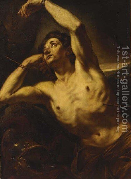 Saint Sebastian by Giovanni Battista Beinaschi - Reproduction Oil Painting