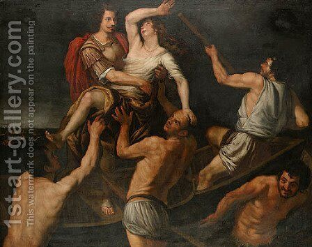 Untitled by Giovanni Battista Carlone - Reproduction Oil Painting