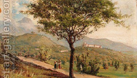 Summer day by Giovanni Battista Ferrari - Reproduction Oil Painting