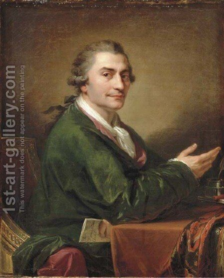 Portrait of Stanislaw Trembecki (1739-1812) by Giovanni Battista Lampi I - Reproduction Oil Painting