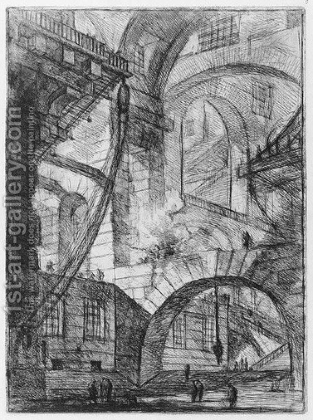 Carceri d'Invenzione Plate VI by Giovanni Battista Piranesi - Reproduction Oil Painting