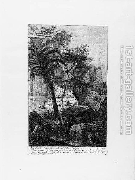 Opere Varie di Architettura, Prospettive, Grotteschi, Antichita by Giovanni Battista Piranesi - Reproduction Oil Painting