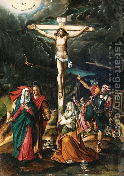 The Crucifixion by Giovanni Battista Rovedata - Reproduction Oil Painting