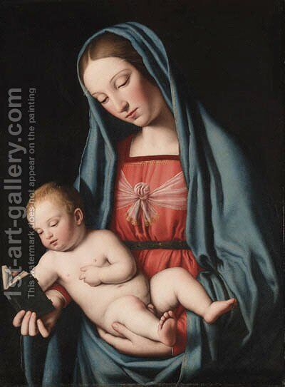 The Madonna and Child, after Raphael by Giovanni Battista Salvi, Il Sassoferrato - Reproduction Oil Painting