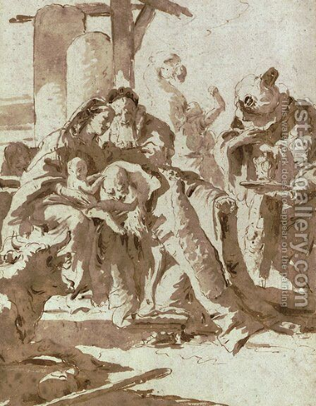 The Adoration of the Magi by Giovanni Battista Tiepolo - Reproduction Oil Painting