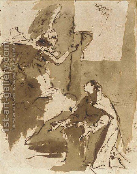 The Annunciation by Giovanni Battista Tiepolo - Reproduction Oil Painting