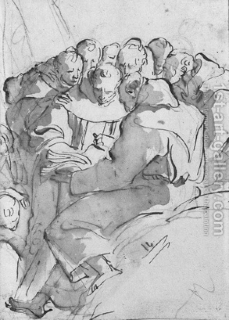 Untitled by Giovanni Battista Tiepolo - Reproduction Oil Painting