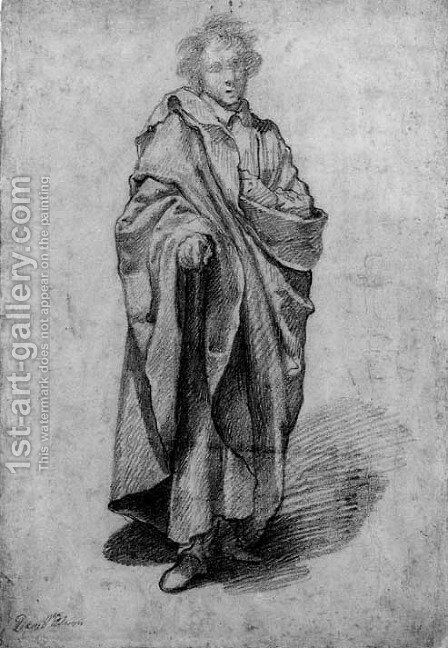A man in a cloak by Giovanni Battista Vanni - Reproduction Oil Painting