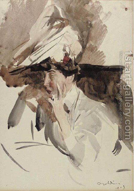 Consuelo, Duchess of Marlborough by Giovanni Boldini - Reproduction Oil Painting