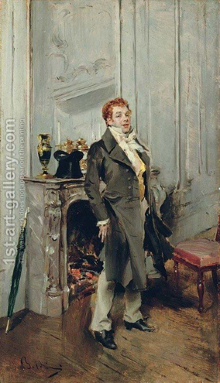 Portrait of the actor Coquelin ane by Giovanni Boldini - Reproduction Oil Painting
