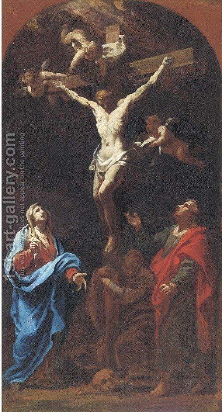 The Crucifixion by Giovanni Camillo Sagrestani - Reproduction Oil Painting