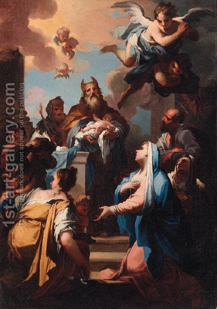 The Presentation in the Temple by Giovanni Camillo Sagrestani - Reproduction Oil Painting