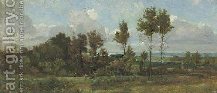 In the Campagna by Giovanni Costa - Reproduction Oil Painting