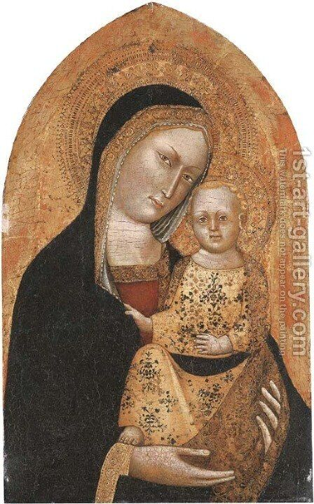 The Madonna and Child by Giovanni Pisano - Reproduction Oil Painting
