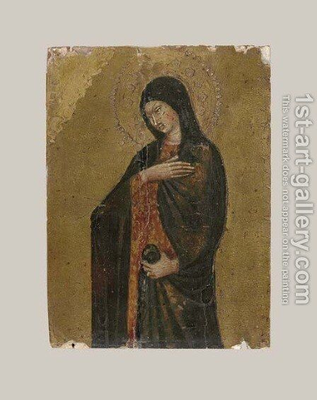 The Virgin Annunciate by Giovanni di Paolo - Reproduction Oil Painting