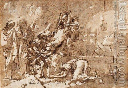 La mise au tombeau by Giovanni Domenico Tiepolo - Reproduction Oil Painting
