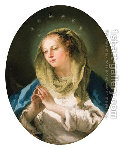 The Madonna by Giovanni Domenico Tiepolo - Reproduction Oil Painting