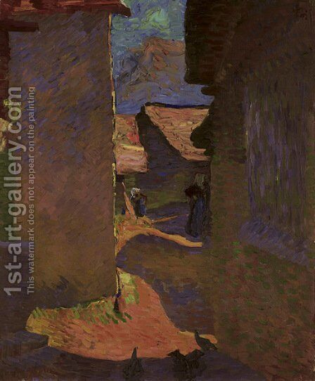Viottola, 1911 (Dorfgasse) by Giovanni Giacometti - Reproduction Oil Painting