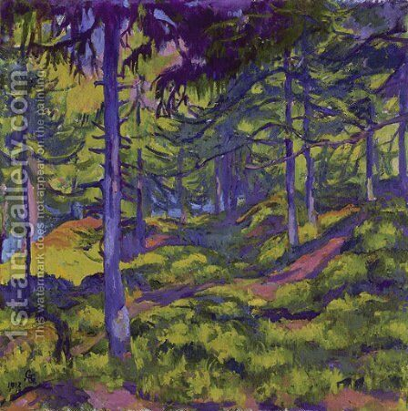 Waldinneres, 1917 by Giovanni Giacometti - Reproduction Oil Painting