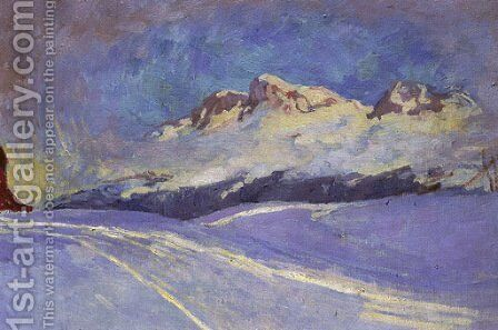 Winterlandschaft bei Maloja, 1917-18 by Giovanni Giacometti - Reproduction Oil Painting