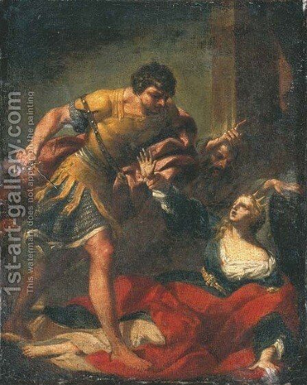 The Sacrifice of Polyxena by Giovanni Gioseffo da Sole - Reproduction Oil Painting