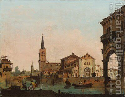 Cappricci of towns in the Veneto by Giovanni Migliara - Reproduction Oil Painting