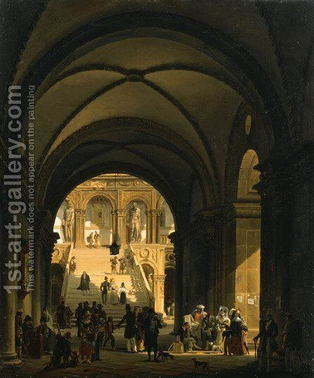Untitled by Giovanni Migliara - Reproduction Oil Painting