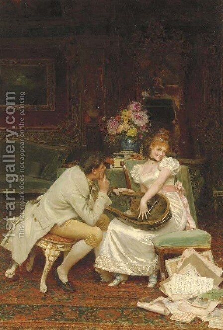 Love Notes by Giovanni Muzzioli - Reproduction Oil Painting