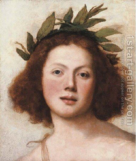 Head of Apollo by Girolamo Forabosco - Reproduction Oil Painting