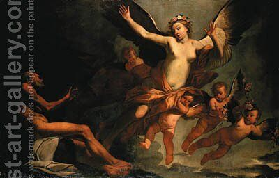 Eos and Tithonus by Giulio Carpione - Reproduction Oil Painting