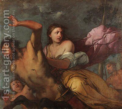 Nessus and Deianeira by Giulio Carpione - Reproduction Oil Painting