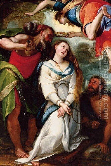 The martyrdom of Saint Agnes by Giulio Cesare Procaccini - Reproduction Oil Painting