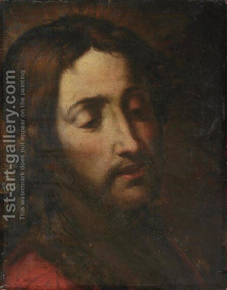 The Head of Christ by Giulio Cesare Procaccini - Reproduction Oil Painting