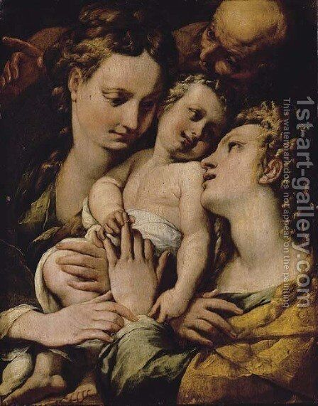 The Mystic Marriage of Saint Catherine by Giulio Cesare Procaccini - Reproduction Oil Painting